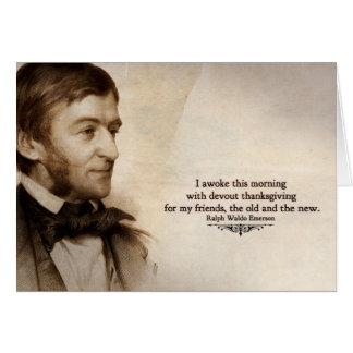 Cartões de agradecimentos de Ralph Waldo Emerson