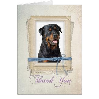 Cartões de agradecimentos de Rottie