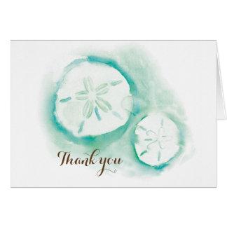 Cartões de agradecimentos de Seafoam do dólar de