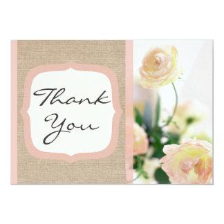 Cartões de agradecimentos de serapilheira da convite 12.7 x 17.78cm