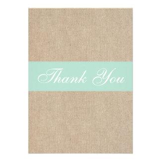 Cartões de agradecimentos de serapilheira da horte convite personalizados