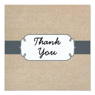 Cartões de agradecimentos de serapilheira das convite quadrado 13.35 x 13.35cm