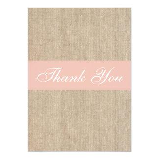 Cartões de agradecimentos de serapilheira do convite 12.7 x 17.78cm