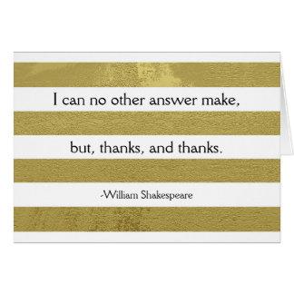 Cartões de agradecimentos de Shakespeare