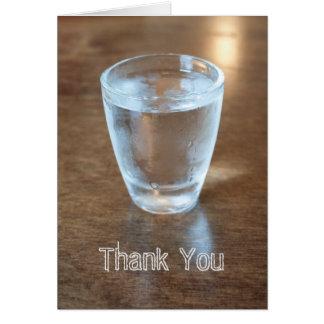 Cartões de agradecimentos de Shotglass