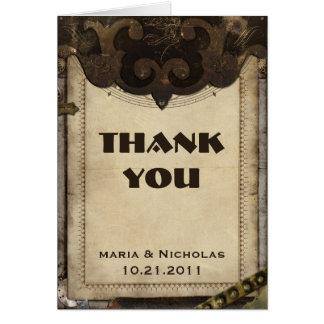Cartões de agradecimentos de Steampunk do