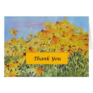 Cartões de agradecimentos de Susan de olhos pretos