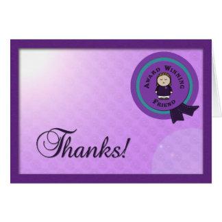 Cartões de agradecimentos de vencimento do amigo