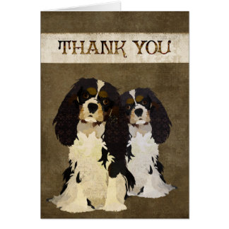 Cartões de agradecimentos descuidados do rei Cão