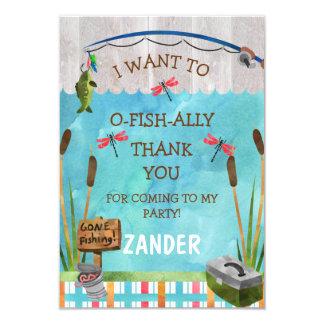 Cartões de agradecimentos do aliado dos peixes de