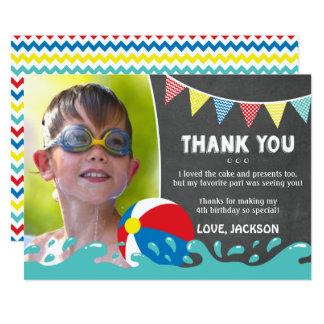 Cartões de agradecimentos do aniversário da festa