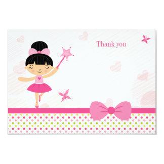 Cartões de agradecimentos do aniversário da menina convites