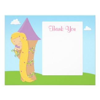 Cartões de agradecimentos do aniversário de Rapunz Convites