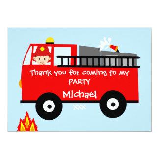 Cartões de agradecimentos do aniversário do carro convite 11.30 x 15.87cm