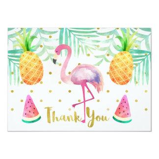 Cartões de agradecimentos do aniversário do convite 11.30 x 15.87cm
