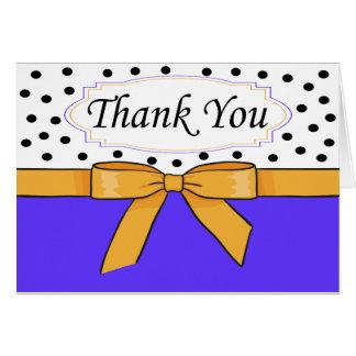Cartões de agradecimentos do arco das bolinhas