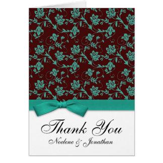 Cartões de agradecimentos do arco de Brown e de