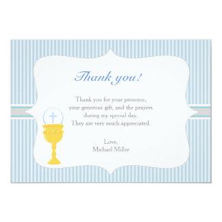 Cartões de agradecimentos do azul do comunhão do
