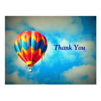 Cartões de agradecimentos do balão de ar quente