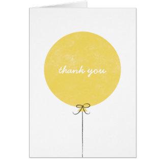 Cartões de agradecimentos do balão - limão