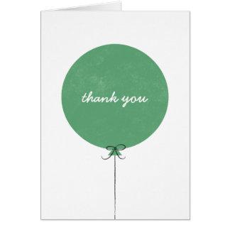 Cartões de agradecimentos do balão - trevo