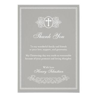 Cartões de agradecimentos do baptismo