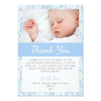 Cartões de agradecimentos do batismo do bebé convite 12.7 x 17.78cm