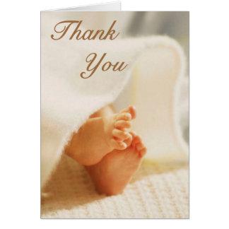 Cartões de agradecimentos do bebê