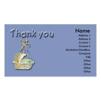 Cartões de agradecimentos do bebê cartoes de visitas