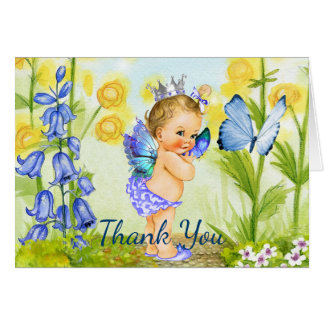 Cartões de agradecimentos do bebê da borboleta