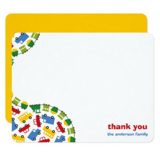 Cartões de agradecimentos do bebé dos brinquedos