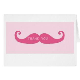 cartões de agradecimentos do bigode