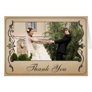 Cartões de agradecimentos do bilhete do vintage