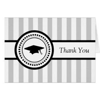 Cartões de agradecimentos do boné de formatura das