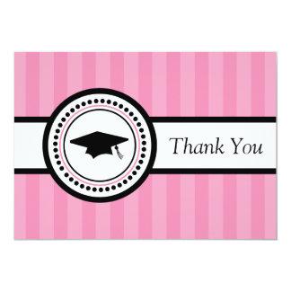 Cartões de agradecimentos do boné de formatura das convite 12.7 x 17.78cm