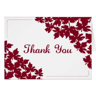 Cartões de agradecimentos do bordo vermelho