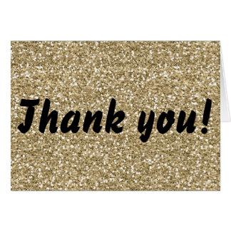 Cartões de agradecimentos do brilho