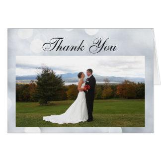 Cartões de agradecimentos do brilho das luzes da