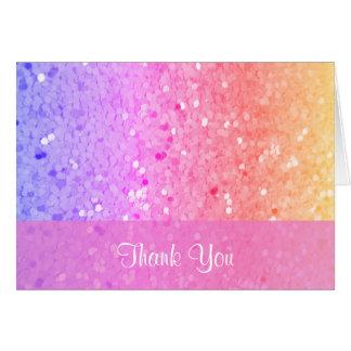 Cartões de agradecimentos do brilho do arco-íris