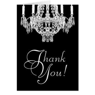 Cartões de agradecimentos do candelabro