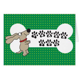 Cartões de agradecimentos do cão