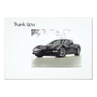 Cartões de agradecimentos do carro de esportes