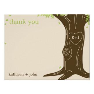 Cartões de agradecimentos do carvalho convite