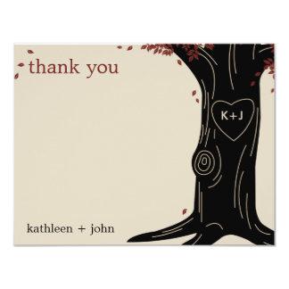 Cartões de agradecimentos do carvalho convites personalizado