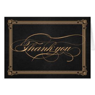 Cartões de agradecimentos do carvão vegetal & do