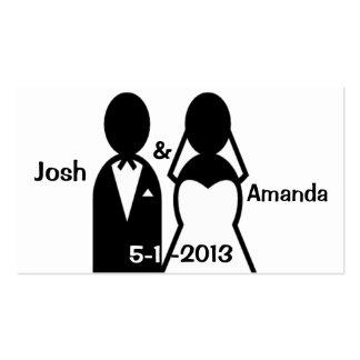 Cartões de agradecimentos do casal do casamento do cartão de visita
