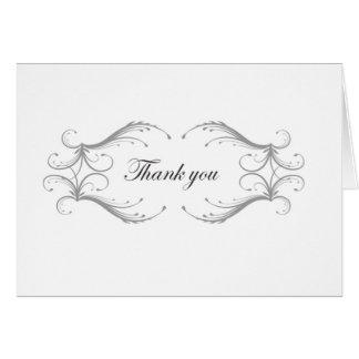 Cartões de agradecimentos do casamento