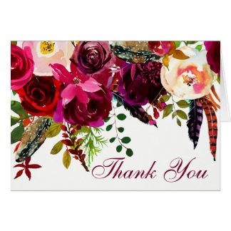 Cartões de agradecimentos do casamento - Borgonha