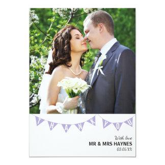 Cartões de agradecimentos do casamento - cartão