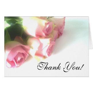 Cartões de agradecimentos do casamento com as